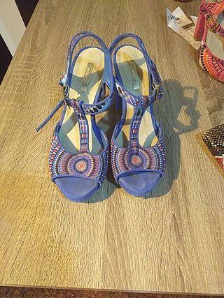 sandalias azul número 38