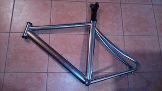 cuadro bicicleta de titanio litespeed saver