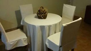 mesa camilla con sillas