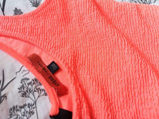 Vestido Rosa Coral Bershka Talla S De Segunda Mano Por 5