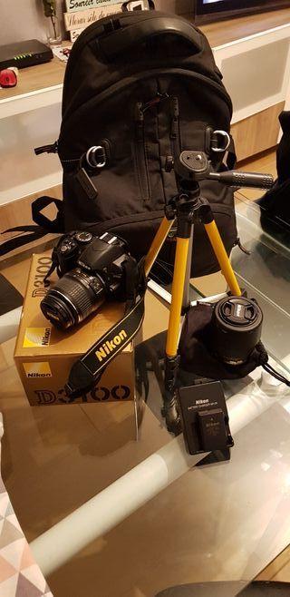 Nikon D3100 + accesorios.