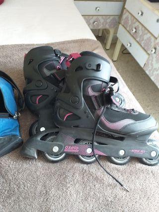 patines en línea con bolsa