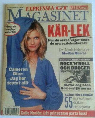 Revista sueca Expressen. Portada Cameron Diaz.