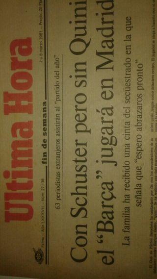 Periódico Hultima Hora año 1981