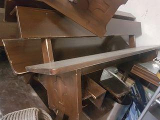 bancos de madera maciza