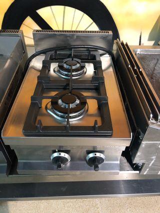 Cocina industrial 2 fuegos