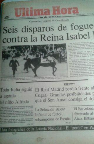 Periódico Hultima Hora. 1981