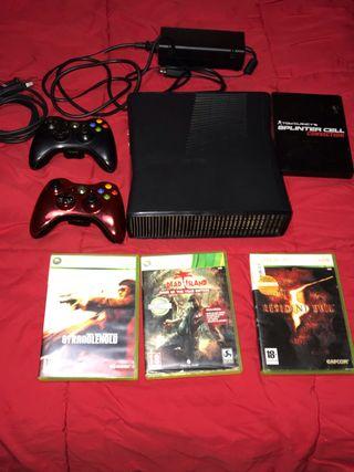 Xbox slim 4gb más juegos y mando