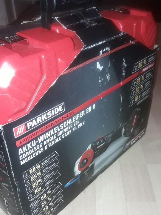 radial amoladora 20v Parkside brushless