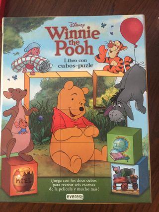 Libro con cubos puzzle. Winnie the pooh