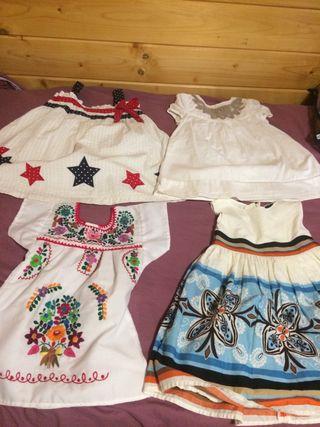 Pack de 4 vestidos niña talla 18-24 meses