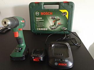2 baterías+cargador taladro atornillador bosch