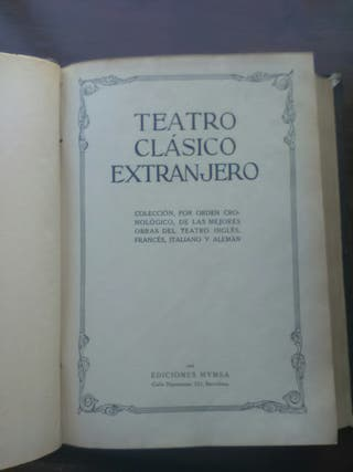 Libro Teatro Clasico Extranjero
