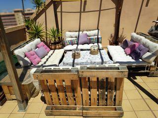 Conjunto de terraza/jardín. Palets
