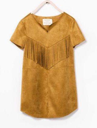 Vestido Zara kids flecos (1,64cm)