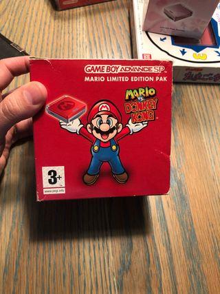 Nintendo game boy advance sp Mario