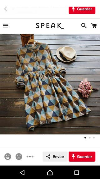 Vestido vintage una puesta talla M/L