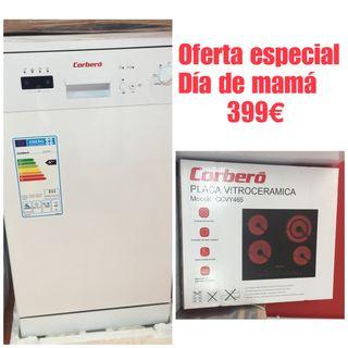Lavavajillas + Encimera con garantía