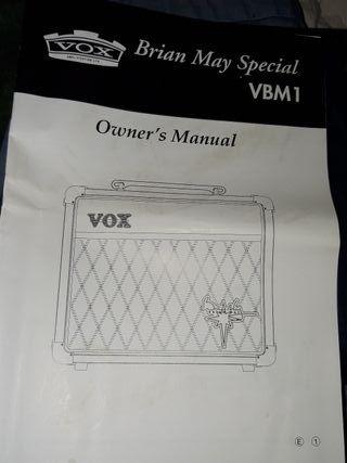 manual amplificador vox Bms vbm1
