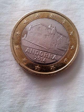 Moneda 1€ Andorra 2014