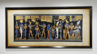 Cuadro papiro autentico egipcio