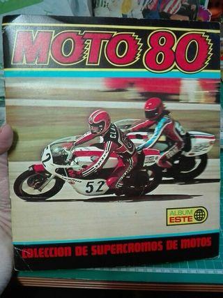 MOTO 80 ALBUM ESTE CROMOS