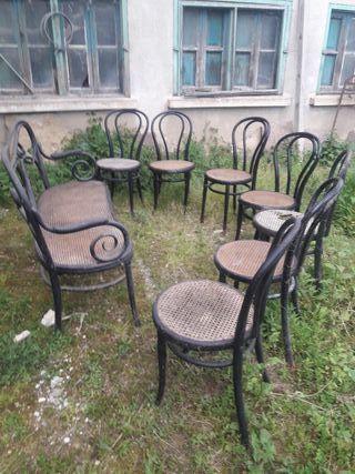 Conjunto sillas antiguas