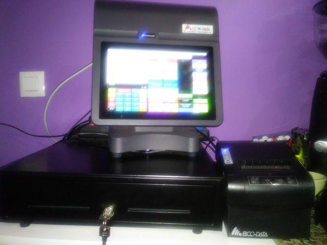 Caja registradora + cajón monedero + 2 impresoras