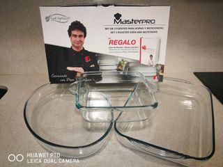 Masterpro Set 3 fuentes de horno y microondas