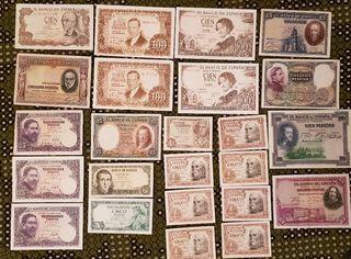 Lote billetes antiguos mas regalo,ver fotos