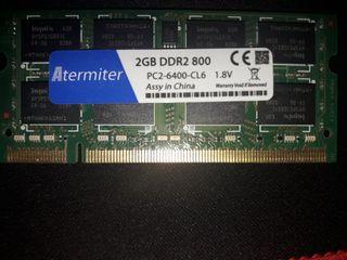 2GB de RAM ddr2 para portatil.