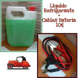 Liquido refrigerador y cable batería
