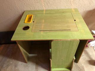 Pupitre infantil madera 70x50 cm y silla