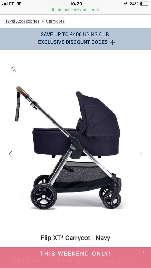 Mamas & papas Flip xt3 carry cot