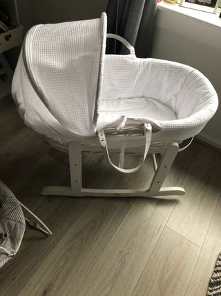 Moses basket used twice
