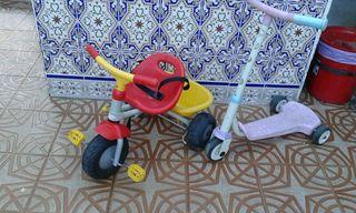 Patinete y triciclo
