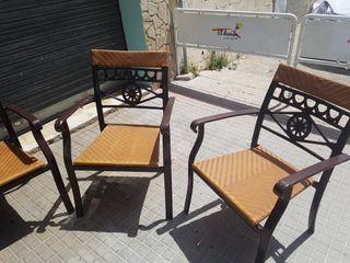 4 sillas aluminio para exterior interior
