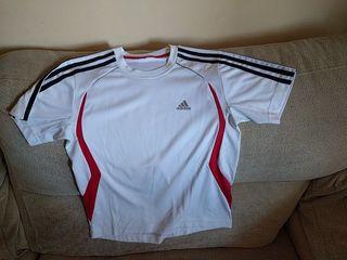 Camiseta blanca manga corta deporte ADIDAS