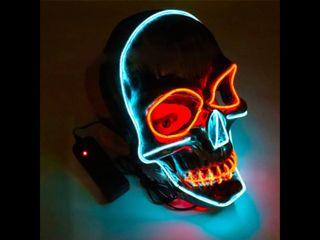 Máscara nueva calavera led