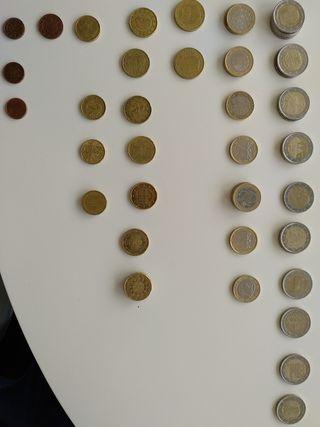 Cambio monedas (euros y céntimos de la UE).