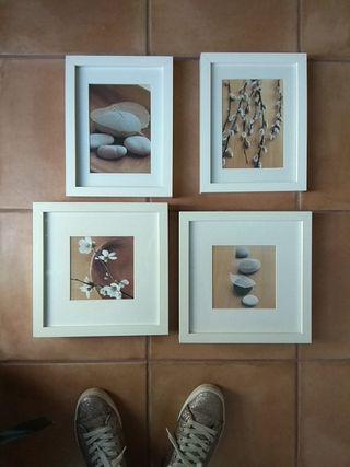 conjunto de marcos RIBBA IKEA con láminas