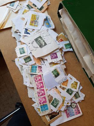 Lote 3000-4000 sellos España antiguos
