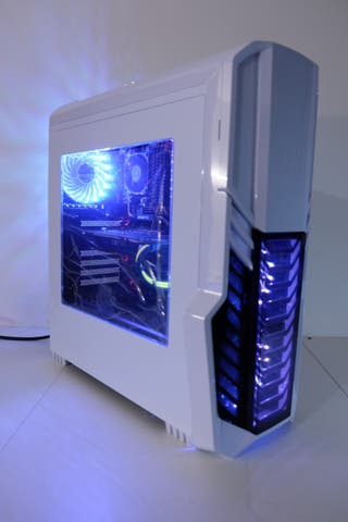 White RGB AMD 8 Core Gaming Computer pc