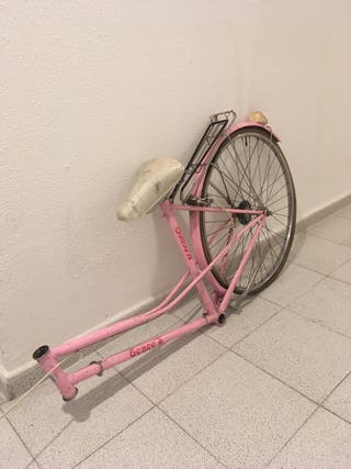 Cuadro bici antigua