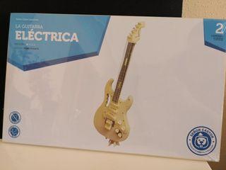 Maqueta de guitarra eléctrica en madera