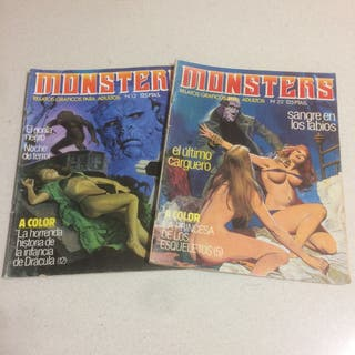 2 Comic Monsters Años 80