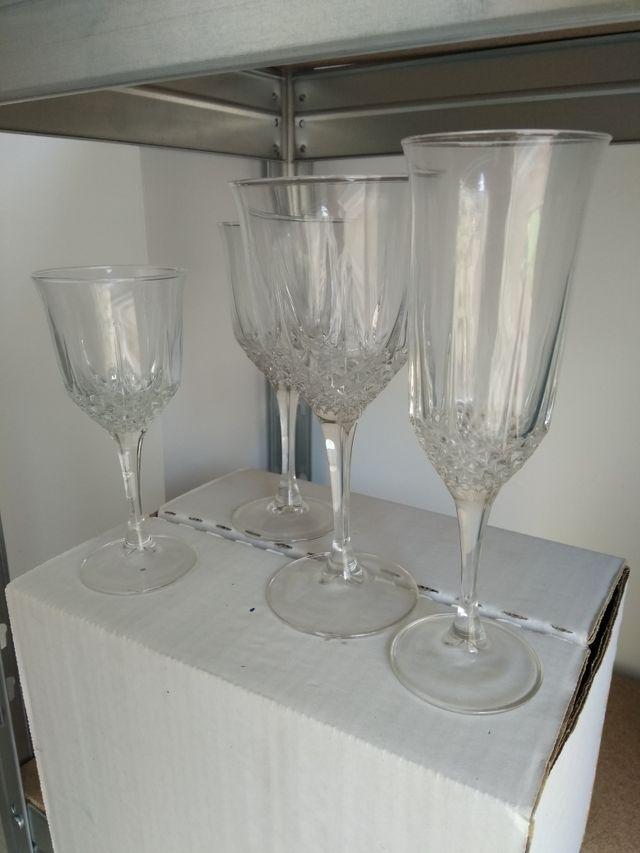 Copas cristal vintage. Juego 24 piezas