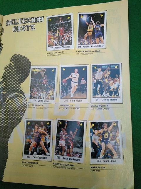Álbum cromos Basket NBA 89