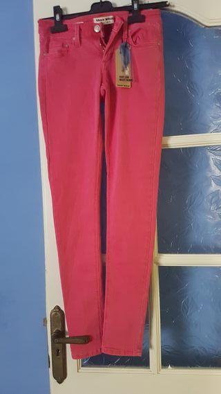pantalon skinny rojo