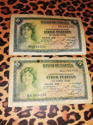 Billetes de 5 pesetas